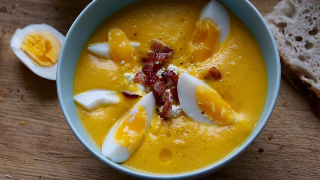 Sötpotatis och morotssoppa