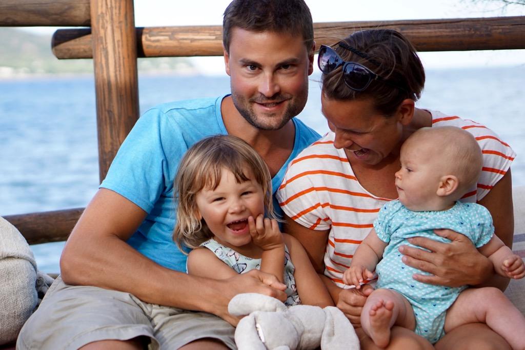 Familjebild från Mallorca