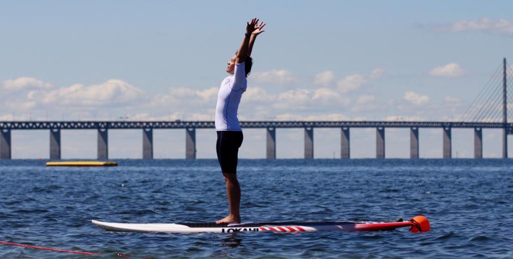 SUP-yoga i Öresund